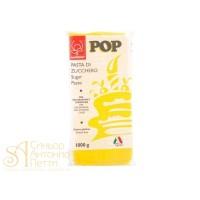 """Сахарная Мастика универсальная для торта """"Modecor POP"""" - Желтая, 1кг. (25471/p)"""