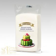 "Сахарная Мастика для торта ""Vizyon"" - Белая, 1кг. (SPO*G)"