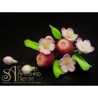 """Цветы из мастики - """"Букет цветов с яблоками"""" (11105*M/p)"""