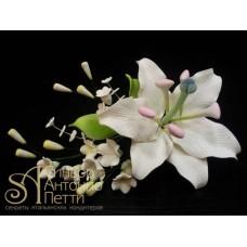 """Цветы из мастики - """"Букет лилий"""" (11110/p)"""