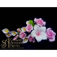 """Цветы из мастики - """"Букет цветов"""", Розовый (11135*B/p)"""