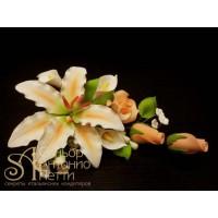 """Цветы из мастики - """"Букет лилий"""" (11142/p)"""