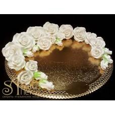 """Цветы из мастики - """"Белые розы"""", 23шт. (11152*G)"""