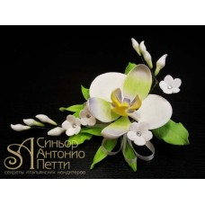 """Цветы из мастики - """"Букет орхидей"""" (11172/p)"""