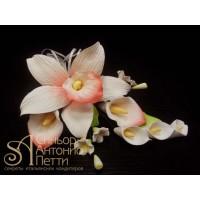 """Цветы из мастики - """"Букет орхидей"""" (11179i/p)"""