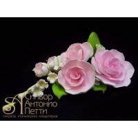 """Цветы из мастики - """"Букет роз"""", Розовый (11180*Bi/p)"""