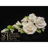Цветы из мастики - Букет роз, Белый (11181*Gi/p)