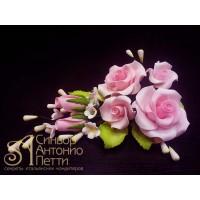 Цветы из мастики - Букет роз, Розовый (11186*Bi/p)