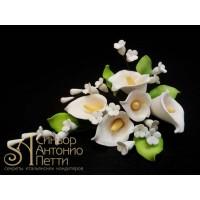 Цветы из мастики - Букет калл, Белый (11184*Gi/p)
