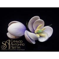 Цветы из мастики - Бутоны тюльпана, Лиловые, 2шт. (11927*V/p)