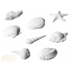 Набор сахарных фигурок - Морские ракушки, 8шт. (25534)