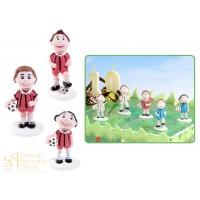 Сахарная фигурка - Футболисты в красной форме (25544/p)
