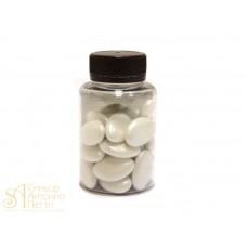 Драже с шоколадной начинкой - Белые перламутровые, 50гр. (50/AI 16500/p)