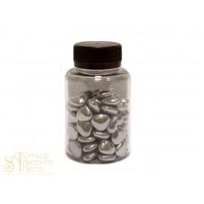 Мини-сердца с шоколадной начинкой - Серебряные перламутровые, 50гр. (50/AI 24820/p)