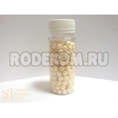 Сахарные бусинки - Айвори перламутровые, 8мм. 100гр. (AI 27977/p)