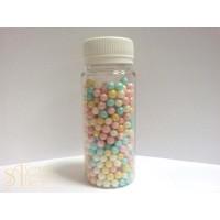 Сахарные бусинки - Разноцветные перламутровые, 6мм. 50гр. (50/AI 27987/p)