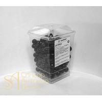 Сахарные бусинки - Черные блестящие, 8мм. 50гр. (50/AI 27983/p)