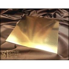 Квадратная золотая подложка, 28*28см. (Plate 28*28/р)
