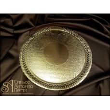 Круглая золотая подложка Apollo-3. 180/220мм. (SAI 25/p)