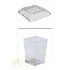 Пластиковые крышки - Квадратные для PMOCU002, 100шт. (PMOCU 002/C)