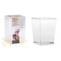 Пластиковый стаканчик - Квадратный, 120мл. 12шт. (PMOCU 0021200)