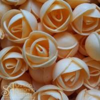 Вафельные цветы - Пионы, Абрикос, 110шт. (13044RQ)
