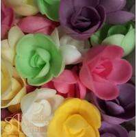 Вафельные цветы - Розы большие, Микс, 56шт. (13071RA)