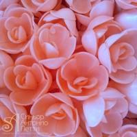 Вафельные цветы - Розы большие, Розовые, 56шт. (13071RB)