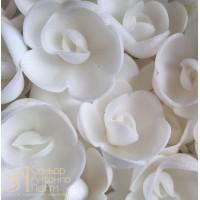 Вафельные цветы - Розы большие, Белые, 56шт. (13071RG)