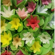 Вафельные цветы - Кактусы, Микс, 10шт. (10/13073RA)