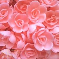 Вафельные цветы - Розы малые, Розовые, 160шт. (13080RB)