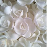 Вафельные цветы - Розы малые, Белые, 160шт. (13080RG)