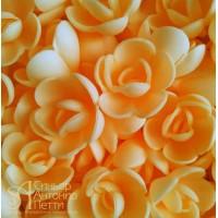 Вафельные цветы - Розы малые, Абрикос, 160шт. (13080RQ)