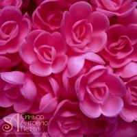 Вафельные цветы - Розы малые, Малиновые, 160шт. (13080RX)