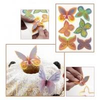 Вафельные Бабочки на пластине, 6шт. (13083/p)