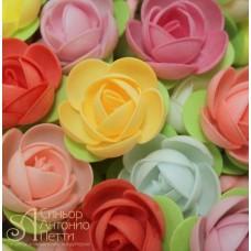 Вафельные цветы - Пионы на трилистнике, Микс, 10шт. (10/12382)