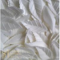 Вафельный листья - Лист розы, Белый, 1000шт. (13930)