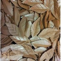 Вафельный листья - Лист розы, Коричневый, 1000шт. (13931)