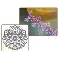 Рельефный силиконовый коврик для создания кружев - Бабочка, 30*40см. (40-WD004)