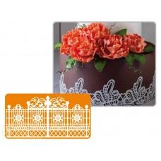 Рельефный силиконовый коврик для создания кружев - Декор, 10*40см. (40-WD007T)