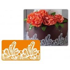 Рельефный силиконовый коврик для создания кружев - Декор, 30*40см. (40-WD009)