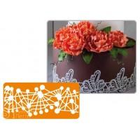 Рельефный силиконовый коврик для создания кружев - Декор, 30*40см. (40-WD010)