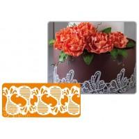 Рельефный силиконовый коврик для создания кружев - Декор, 5.7*40см. (40-WD011T)
