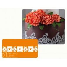 Рельефный силиконовый коврик для создания кружев - Декор, 30*40см. (40-WD014)