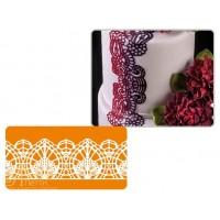 Рельефный силиконовый коврик для создания кружев - Цветок лотоса, 10*40см. (40-WD015T)