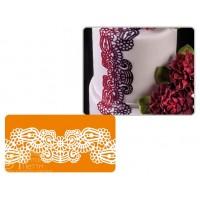 Рельефный силиконовый коврик для создания кружев - Восточная сказка, 10*40см. (40-WD016T)