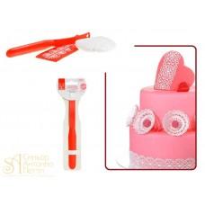 Пластиковая лопатка Modecor Sweet Lace, 11см. (31209)