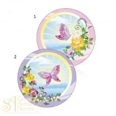 Вафельная пластина - Бабочка, 21см. (25240/p)