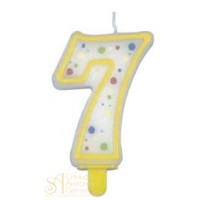 Желтая свеча - Цифра 7 (230467)