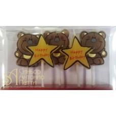 Детские свечи - Мишки и звезды, 5шт. (23076*Mz)